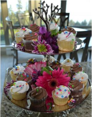 cupcakes comida despedida soltera