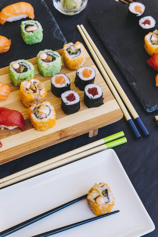 mesa sushi despedida soltera